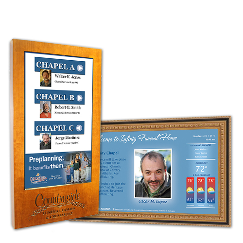 Wall Mount Digital Signs for Funeral Homes