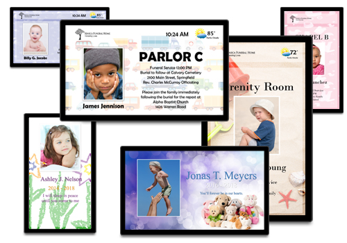 Digital Sign Solutions For The Funeral Industry   FuneralScreen